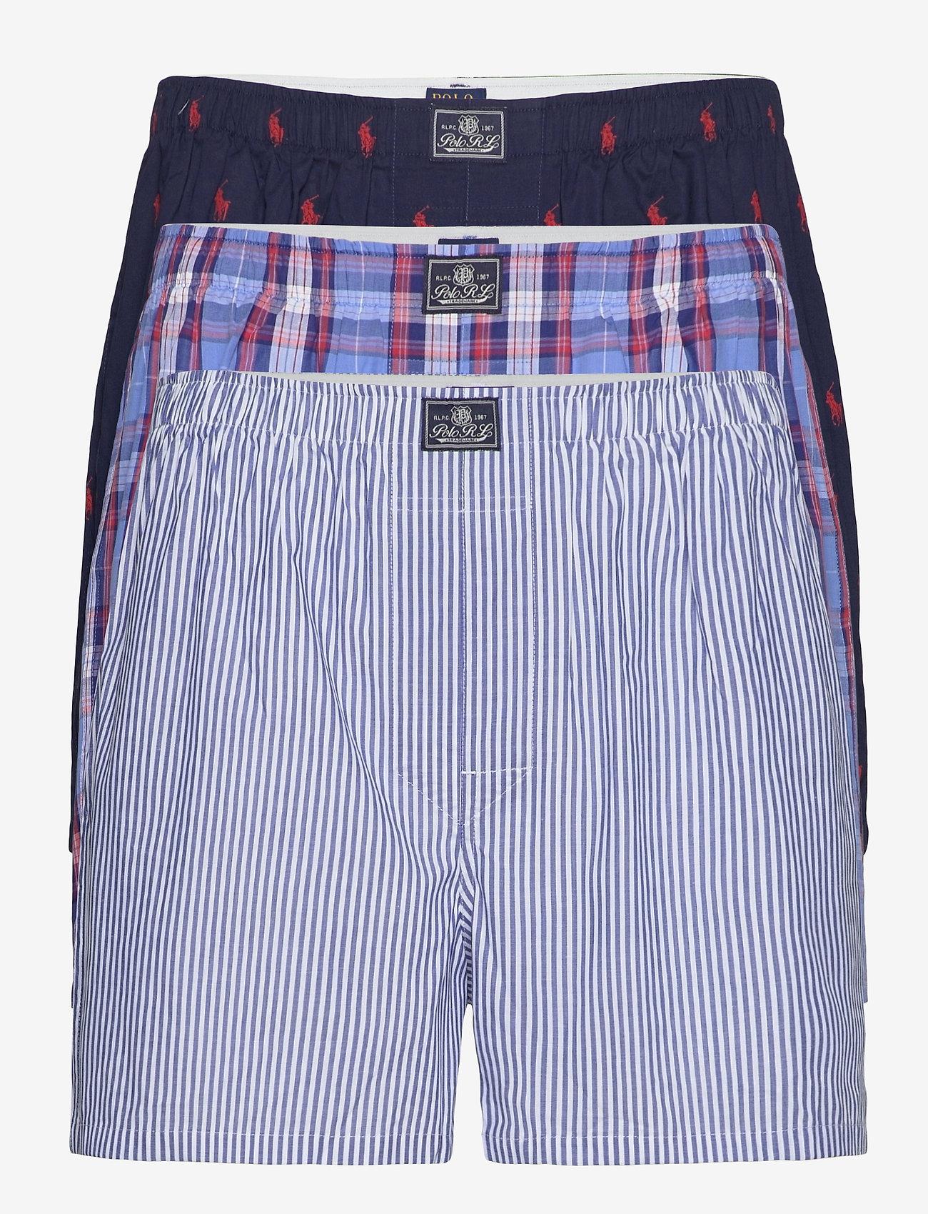 Polo Ralph Lauren Underwear - Cotton Boxer 3-Pack - boxers - mad strp/jms pld/ - 0