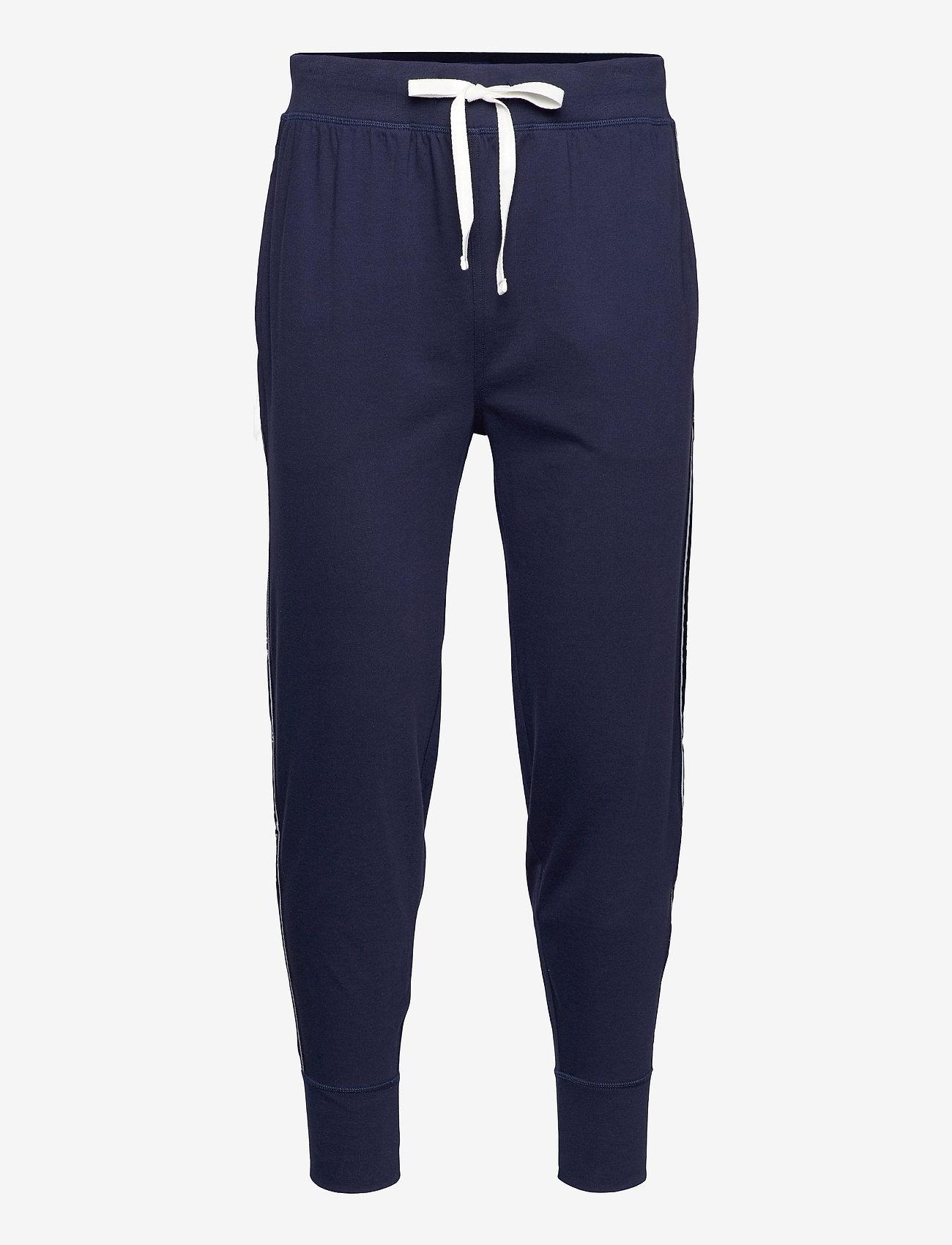 Polo Ralph Lauren Underwear - Logo-Tape Cotton Jersey Jogger - bottoms - cruise navy - 0