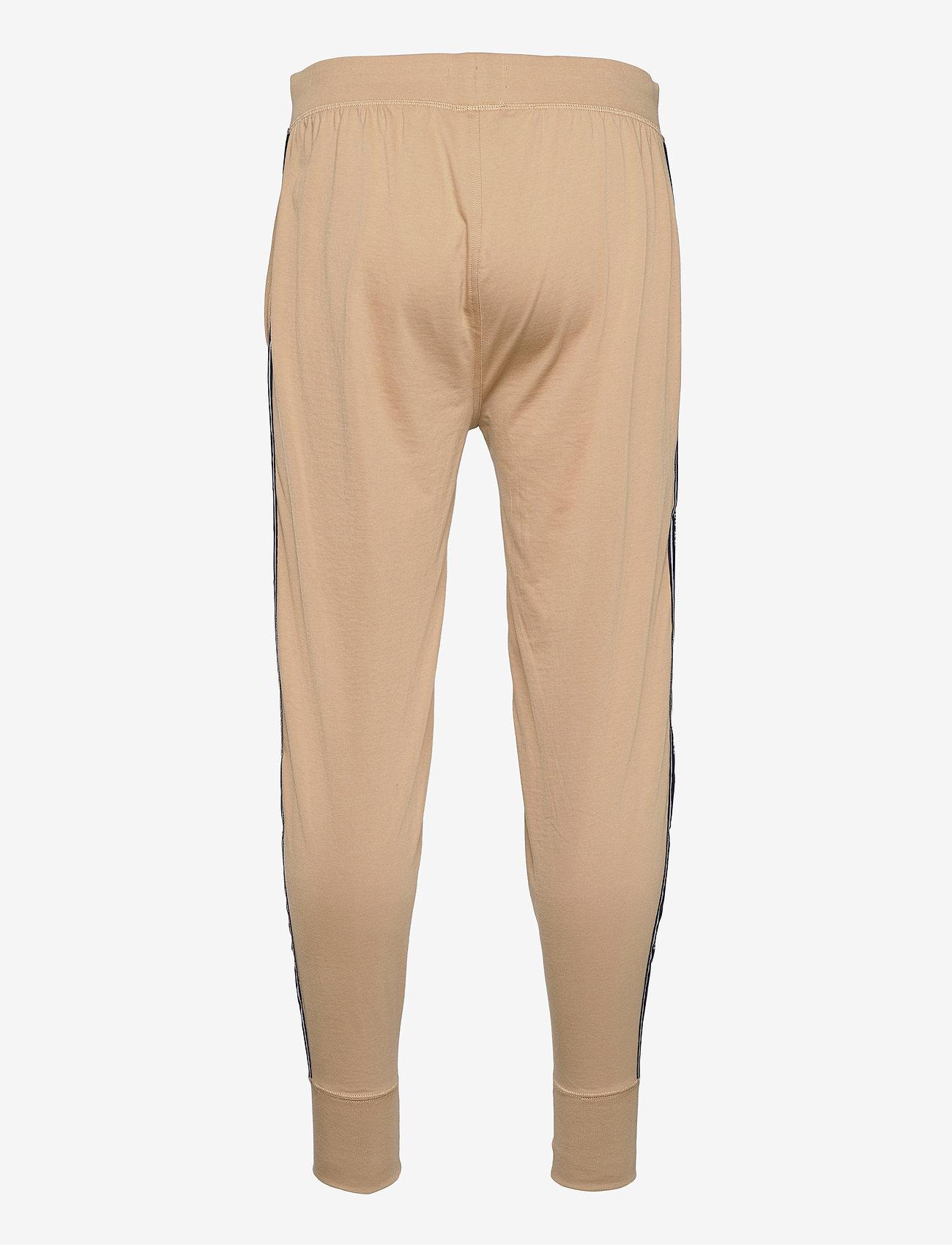 Polo Ralph Lauren Underwear - Logo-Tape Cotton Jersey Jogger - bottoms - vintage khaki - 1