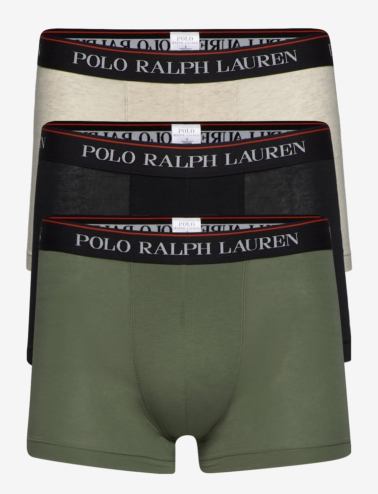 Polo Ralph Lauren Underwear - Classic Stretch-Cotton Trunk 3-Pack - boxers - 3pk blk/crgo gree - 0