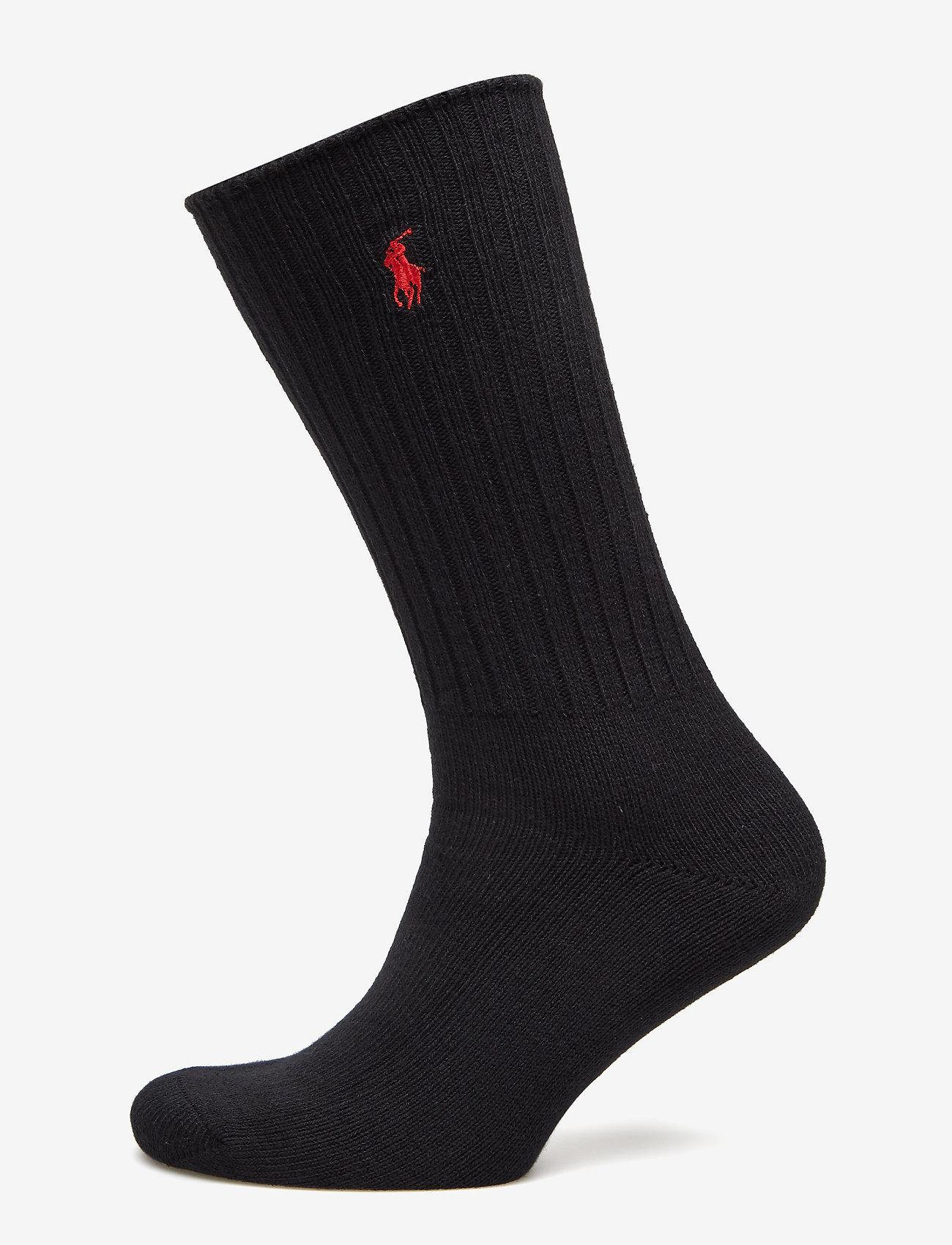 Polo Ralph Lauren Underwear - Cotton-Blend Crew Socks - vanliga strumpor - black - 0