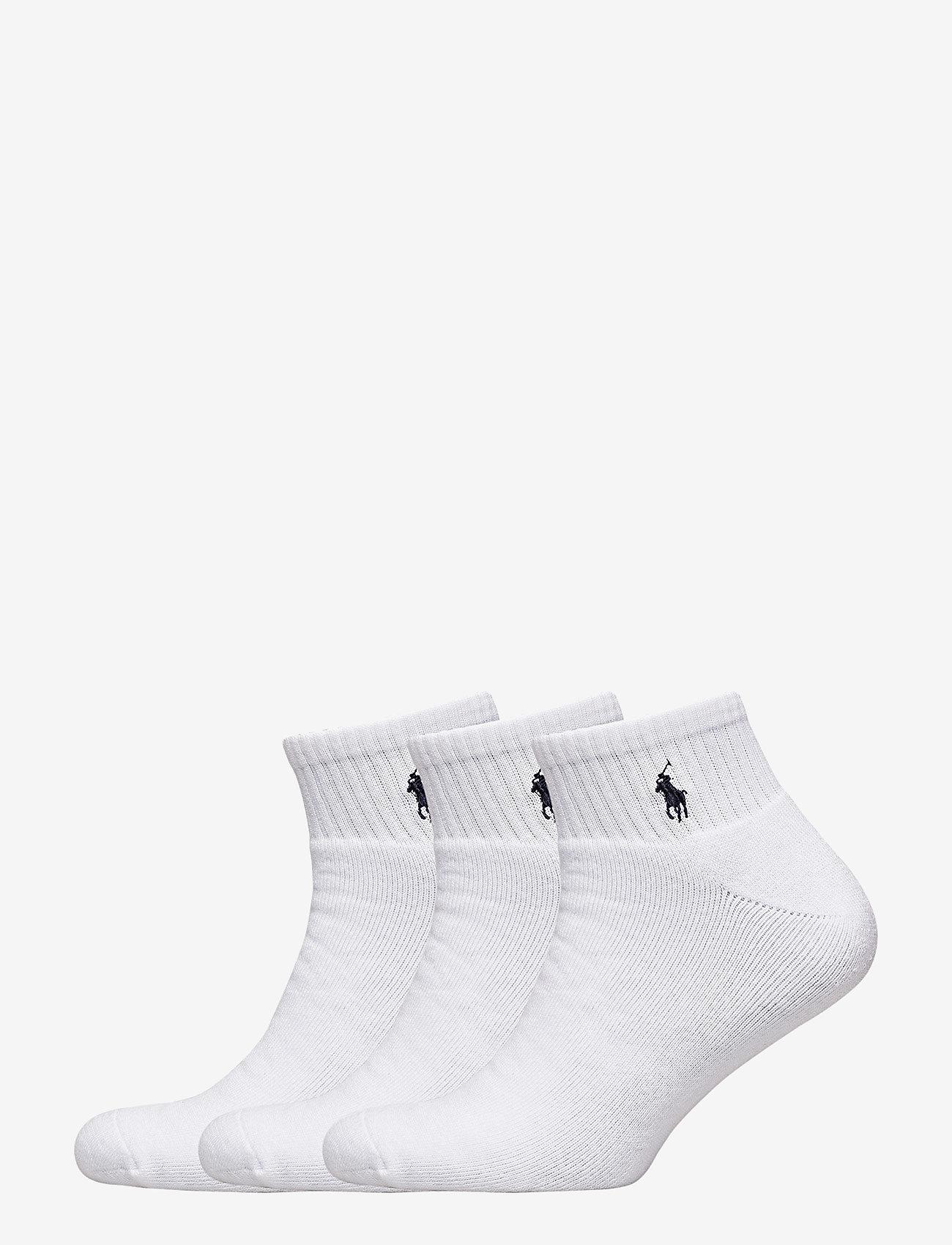 Polo Ralph Lauren Underwear - Quarter Sock 3-Pack - chaussette de cheville - white