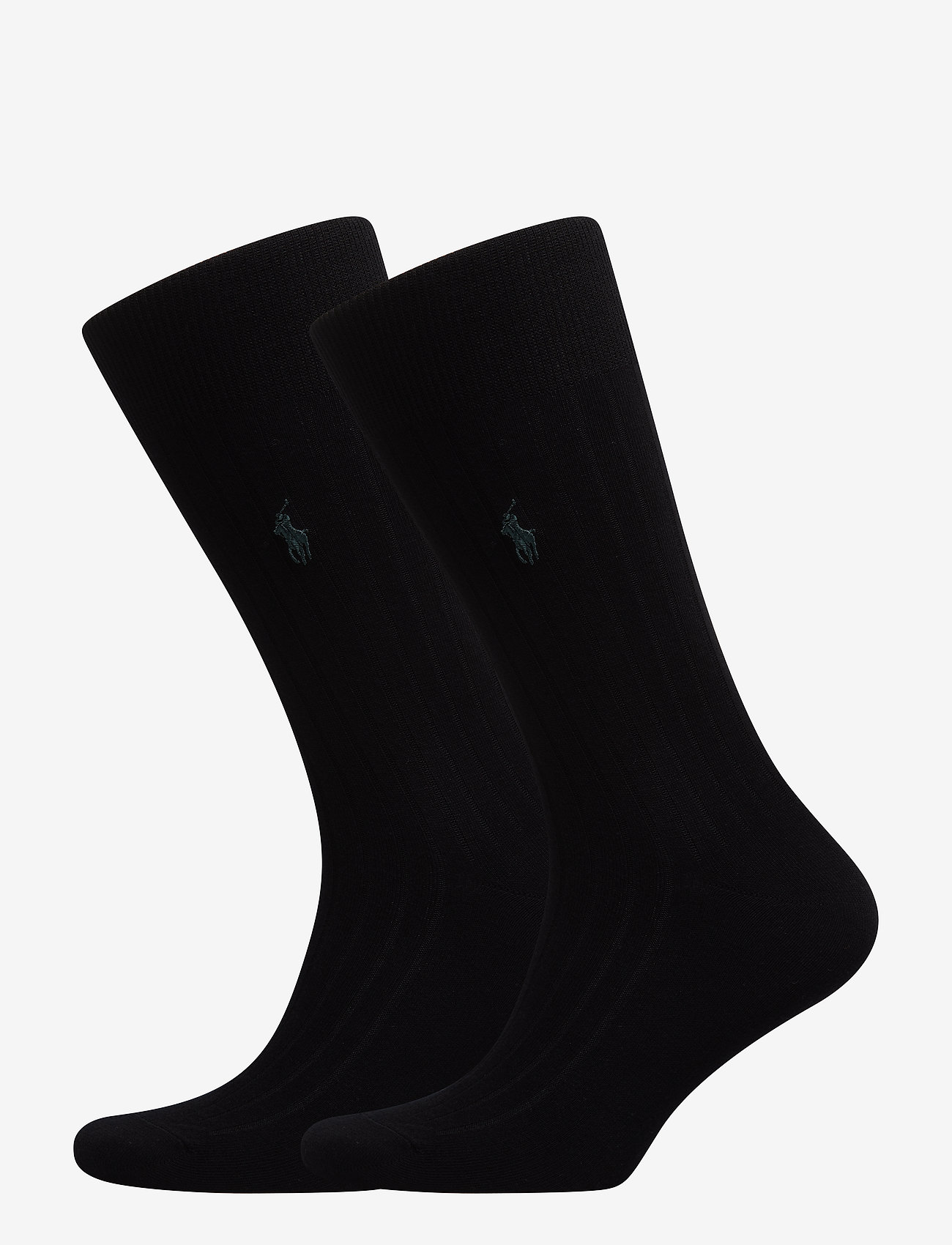 Polo Ralph Lauren Underwear - SCK SIZED RIBBED EGYPTIAN COT - socks - black - 0
