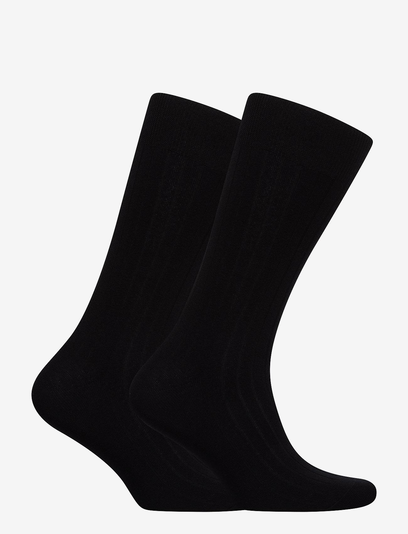 Polo Ralph Lauren Underwear - SCK SIZED RIBBED EGYPTIAN COT - socks - black - 1
