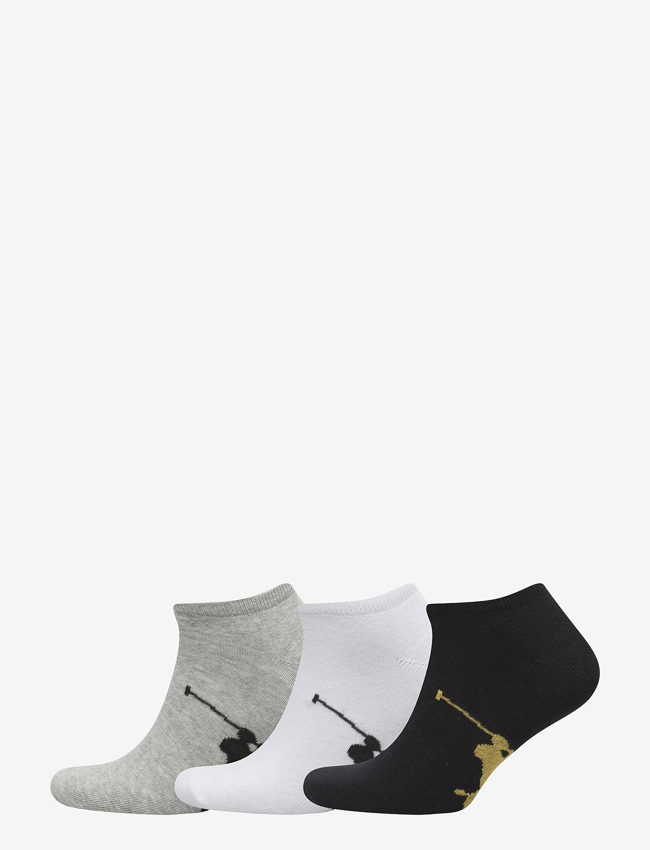 Polo Ralph Lauren Underwear - Big Pony Sock 3-Pack - ankle socks - assorted - 0