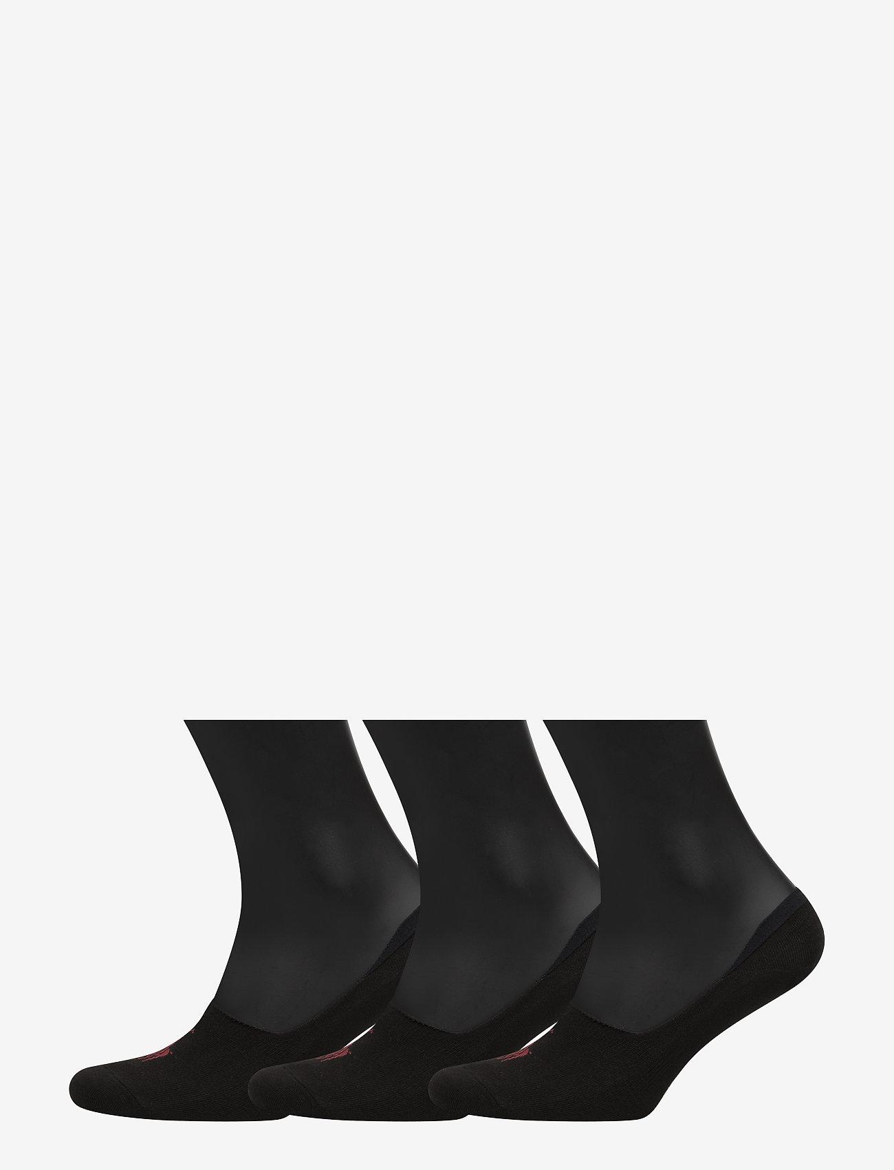 Polo Ralph Lauren Underwear - Big Pony No-Show-Liner 3-Pack - zeķes - black - 0