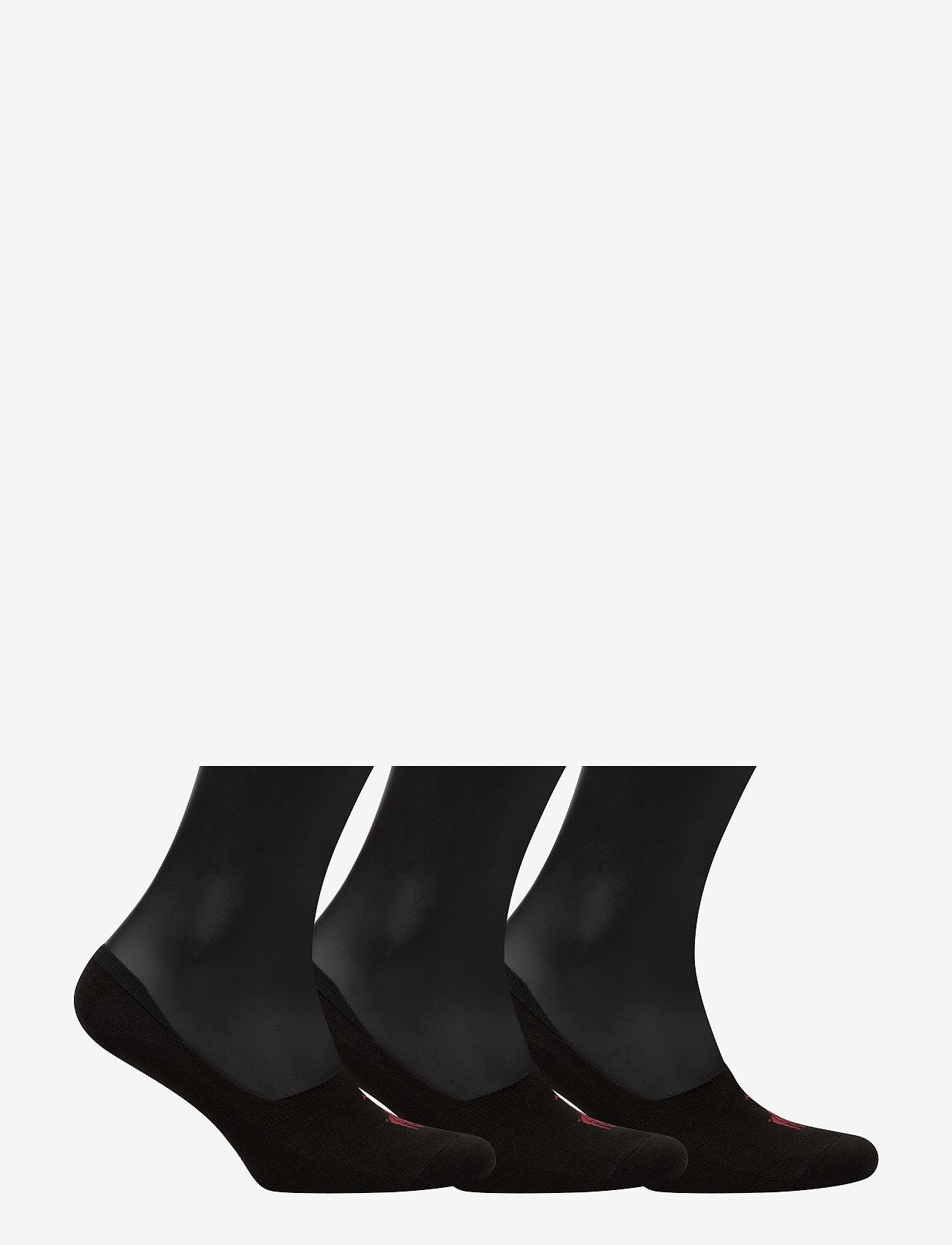 Polo Ralph Lauren Underwear - Big Pony No-Show-Liner 3-Pack - zeķes - black - 1