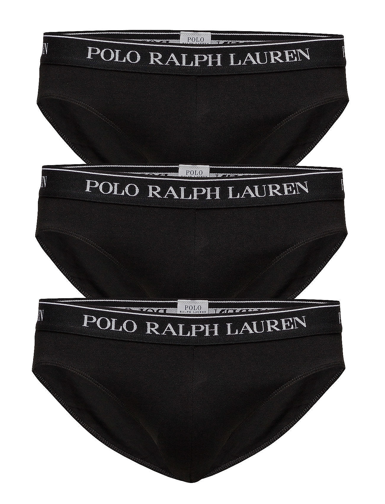 Polo Ralph Lauren Underwear 3 PACKS CLASSIC BRIEFS - BLACK