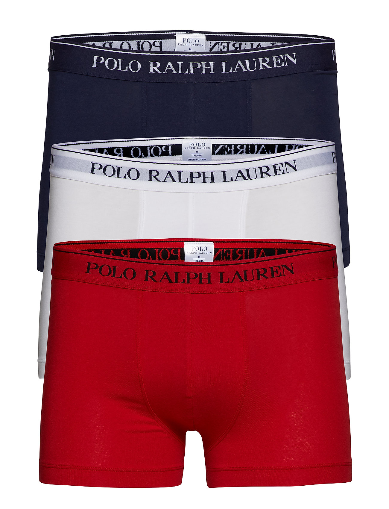 Polo Ralph Lauren Underwear 3 PACKS POUCH TRUNKS - RL2000RED/WHITE/C