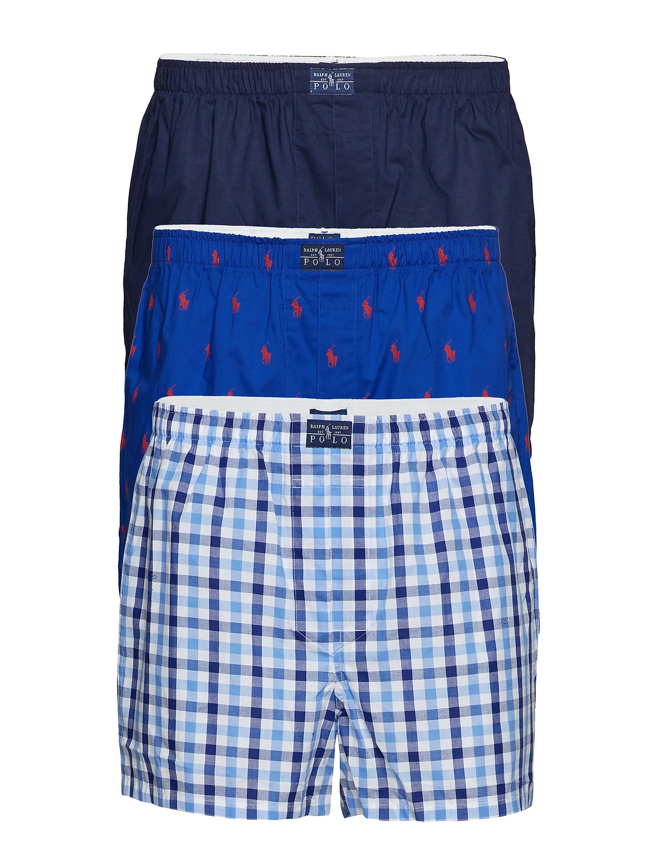 Polo Ralph Lauren Underwear Woven Cotton Boxer 3-Pack