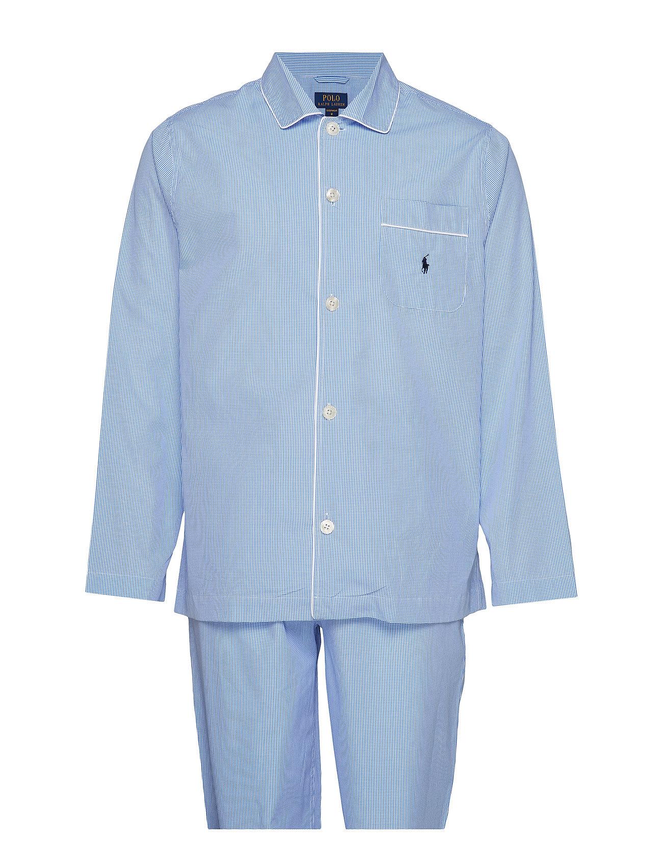 Polo Ralph Lauren Underwear PYJAMA SET LONG - LT BLUE MINI GI
