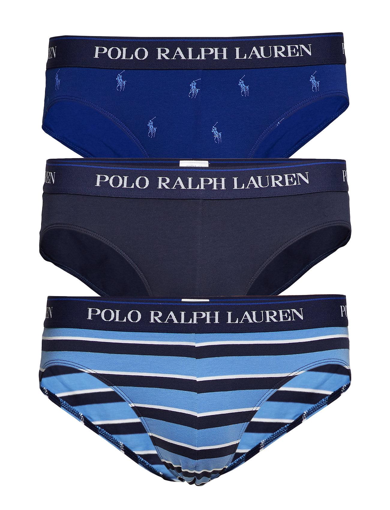 Polo Ralph Lauren Underwear Stretch-Cotton Brief 3-Pack - 3 PK NAVY/AOPP BE