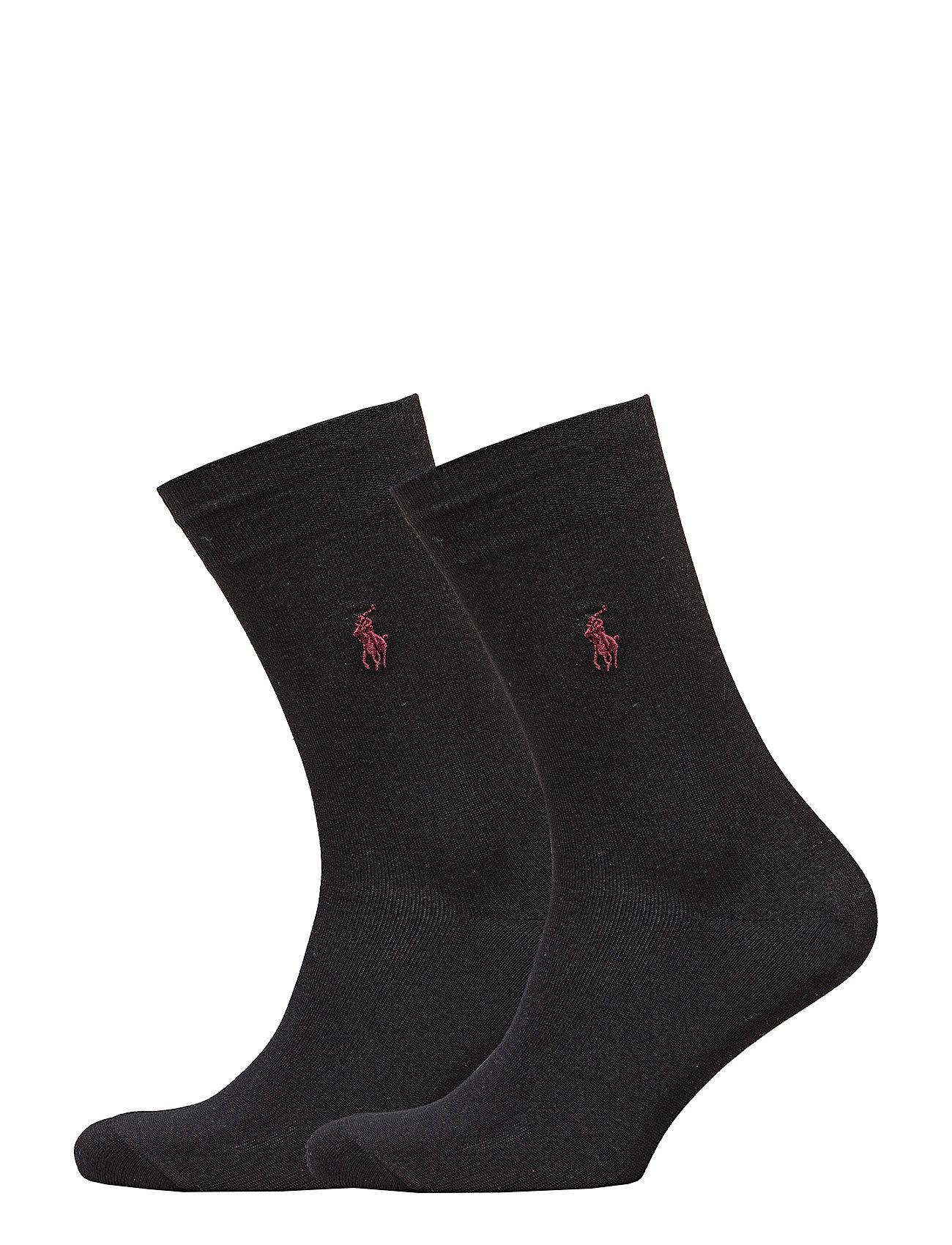 Polo Ralph Lauren Underwear SCK SIZED 2 PK MERC CTN FLAT K - NEW BLACK
