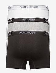 Polo Ralph Lauren Underwear - Stretch-Cotton-Trunk 3-Pack - bokseršorti - white/heather/b - 1