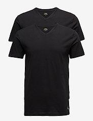 Polo Ralph Lauren Underwear - 2 PACKS V-NECK - basic t-shirts - black - 0