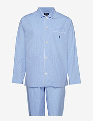 Polo Ralph Lauren Underwear - Gingham Poplin Long Sleep Set - bottoms - lt blue mini gi - 0