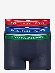 Polo Ralph Lauren Underwear - Stretch-Cotton Trunk 3-Pack - boxers - 3pk nvy grn/nvy r - 0