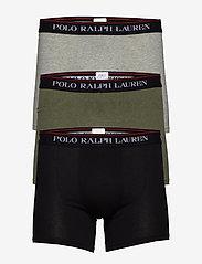 Polo Ralph Lauren Underwear - Cotton Boxer Brief 3-Pack - boxershorts - 3pk blk/and hthr/ - 0
