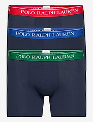 Polo Ralph Lauren Underwear - Cotton Boxer Brief 3-Pack - boxers - 3pk nvy grn/nvy r - 0