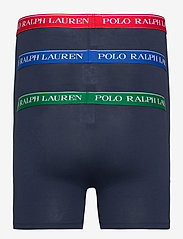 Polo Ralph Lauren Underwear - Cotton Boxer Brief 3-Pack - boxers - 3pk nvy grn/nvy r - 1