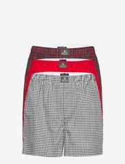 Cotton Boxer 3-Pack - 3PK DNCN PLD/RED