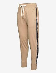 Polo Ralph Lauren Underwear - Logo-Tape Cotton Jersey Jogger - bottoms - vintage khaki - 3