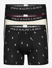 Polo Ralph Lauren Underwear - Stretch Cotton Boxer Brief 3-Pack - boxers - 3pk blk/newsand h - 0