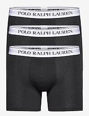 Polo Ralph Lauren Underwear - Stretch Cotton Boxer Brief 3-Pack - boxers - 3pk blk wht/blk w - 0