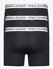 Polo Ralph Lauren Underwear - Stretch Cotton Boxer Brief 3-Pack - boxers - 3pk blk wht/blk w - 1