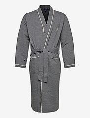 Polo Ralph Lauren Underwear - Cotton-Blend Jersey Robe - peignoirs - charcoal heather - 0