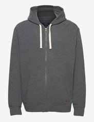 Stretch French Terry Hoodie - CHARCOAL HEATHER
