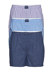 Woven Cotton Boxer 3-Pack - 3PK BLUE/SMITH PL
