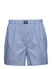 Woven Cotton Boxer - ROYAL/WHITE STR