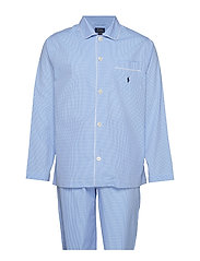 Gingham Poplin Long Sleep Set - LT BLUE MINI GI