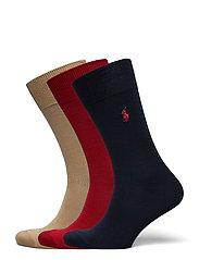 Cotton-Blend Sock 3-Pack - PARK AV RD/CLASS