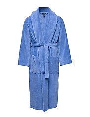 Cotton Terry Shawl Robe - BERMUDA BLUE