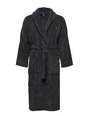 Cotton Terry Shawl Robe - DARK SLATE