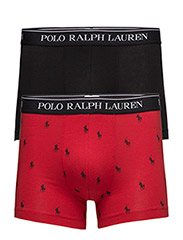 Stretch Cotton Trunk 2-Pack - RED AOPP/BLACK