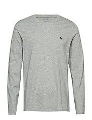 Cotton Jersey Crewneck Shirt - ANDOVER HEATHER