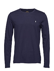 Cotton Jersey Crewneck Shirt - CRUISE NAVY
