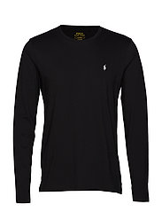 Cotton Jersey Crewneck Shirt - POLO BLACK