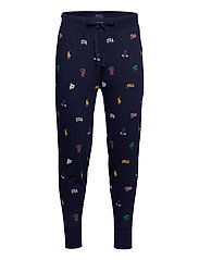 Allover Pony Cotton Jogger - NAVY ICONS PRINT
