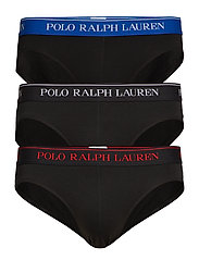 Stretch-Cotton Brief 3-Pack - 3PK BLK/RED/BLK/S
