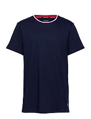 LOOP BACK JERSEY-CRW-STP - CRUISE NAVY