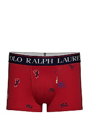 Stretch Cotton Trunk - RED ICONS PRINT