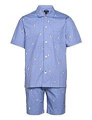 Polo Bear Striped Cotton Pajama Set - TENNIS BEAR STRIP