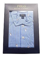 Polo Ralph Lauren Underwear - Polo Bear Striped Cotton Pajama Set - pyjamas - tennis bear strip - 4