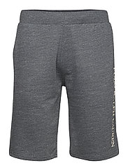 Slim Cotton-Blend Sleep Short - CHARCOAL HEATHER