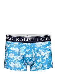 Polo Bear Tropical Stretch Cotton Trunk - CARIBBEAN BLUE LU
