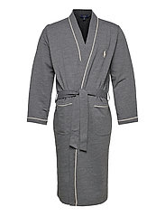 Cotton-Blend Jersey Robe - CHARCOAL HEATHER